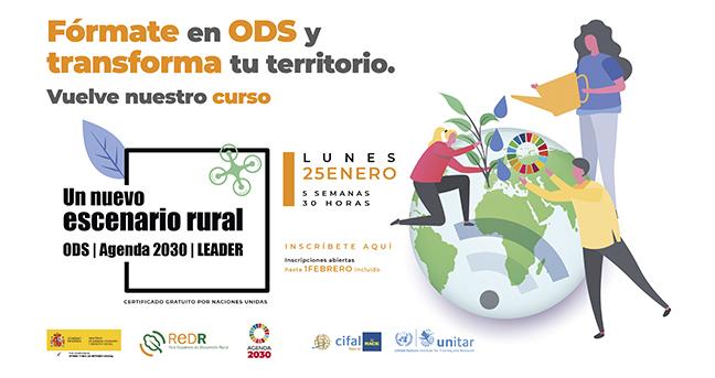 REDR lanza de nuevo el curso 'Un nuevo escenario rural: ODS, Agenda 2030 y LEADER', tras el éxito de la primera edición