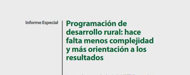 Programación de desarrollo rural: hace falta menos complejidad y más orientación a los resultados, según el Tribunal de Cuentas Europeo